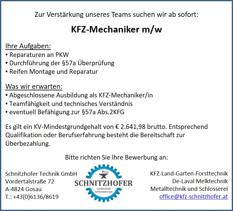 Stellengesuch Mechaniker